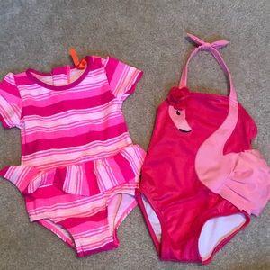 Baby Girls 12-18 month bathing suit bundle